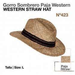 GORRO SOMBRERO PAJA WESTERN...
