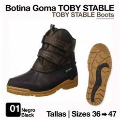 BOTINA GOMA TOBY STABLE NEGRO