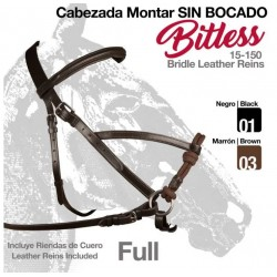 CABEZADA MONTAR SIN BOCADO BITLESS FULL