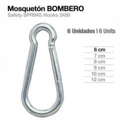 MOSQUETÓN BOMBERO 2450 6uds