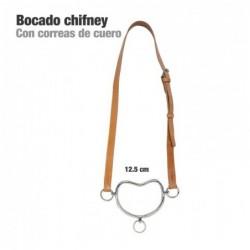 BOCADO CHIFNEY CON CORREAS DE CUERO 12.5cm