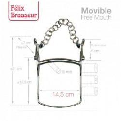 BOCADO FELIX BRASSEUR MOVIBLE 004H01 14.5cm