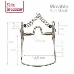 BOCADO FELIX BRASSEUR MOVIBLE 004H10 14.5cm
