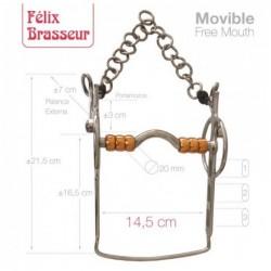BOCADO FELIX BRASSEUR MOVIBLE 004H13 14.5cm