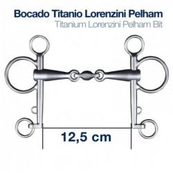 BOCADO TITANIO LORENZINI PELHAM 3-PIEZAS 12.5cm