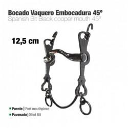 BOCADO VAQUERO EMBOCADURA 45º 3C PAVONADO 12.5cm