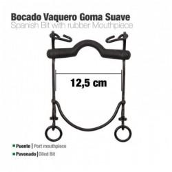 BOCADO VAQUERO GOMA SUAVE 7A PAVONADO 12.5cm
