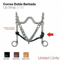 CORREA DOBLE BARBADA (UNIDAD) NEGRO