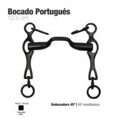 BOCADO PORTUGUÉS EMBOCADURA 45º PAVONADO 12.5cm