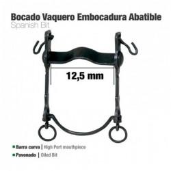 BOCADO VAQUERO B/CURVA EMBOCADURA ABATIBLE 12.5cm