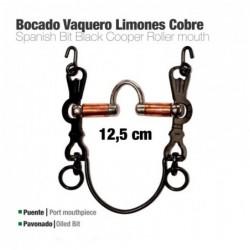 BOCADO VAQUERO LIMONES COBRE 5C PAVONADO 12.5cm
