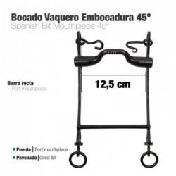 BOCADO VAQUERO EMBOCADURA 45º 3G PAVONADO 12.5cm