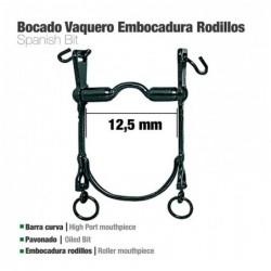 BOCADO VAQUERO B/CURVA EMBOCADURA RODILLOS 12.5cm