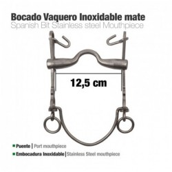 BOCADO VAQUERO EMBOCADURA INOX 7A/AR MATE 12.5cm
