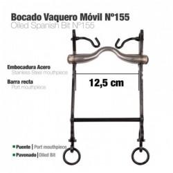 BOCADO VAQUERO MÓVIL BARRA RECTA Nº155 12.5cm