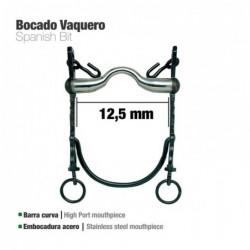 BOCADO VAQUERO B/CURVA EMBOCADURA ACERO 12.5cm