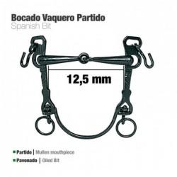 BOCADO VAQUERO B/CURVA PARTIDO PAVONADO 12.5cm