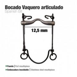 BOCADO VAQUERO ARTICULADO 7Ai PAVONADO 12.5cm