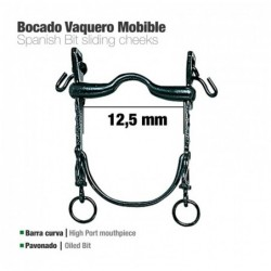 BOCADO VAQUERO B/CURVA MOVIBLE PAVONADO 12.5cm