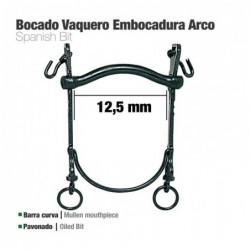 BOCADO VAQUERO B/CURVA EMBOCADURA ARCO 12.5cm