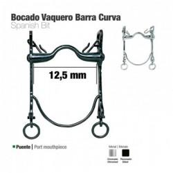 BOCADO VAQUERO BARRA CURVA 21797C CROMADO 12.5cm