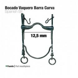BOCADO VAQUERO BARRA CURVA 21798SI PAVONADO 12.5cm