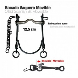 BOCADO VAQUERO MOVIBLE ECO. PAVONADO 12.5cm