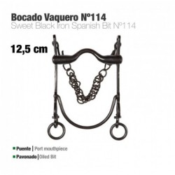 BOCADO VAQUERO ECO. Nº114 PAVONADO 12.5cm