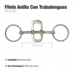 FILETE ANILLA CON TRABALENGUAS INOX 21416 13.5cm