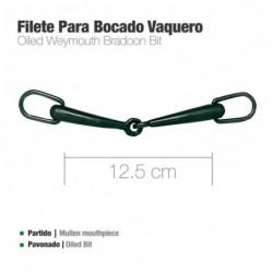 FILETE PARA BOCADO VAQUERO PAVONADO 12.5cm