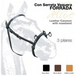 CABEZADA SERRETA VAQUERA 3-pilar FORRADA