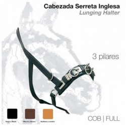CABEZADA SERRETA INGLESA 3 pilares 101