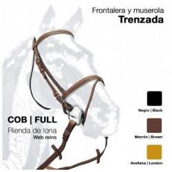 CABEZADA MONTAR RIENDA LONA 0018