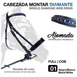 CABEZADA MONTAR DIAMANTE 2123 NEGRO/BLANCO