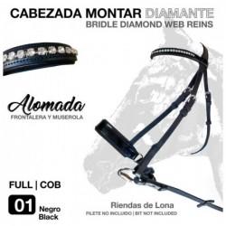 CABEZADA MONTAR DIAMANTE SD2123 NEGRO
