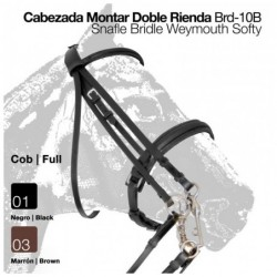CABEZADA MONTAR DOBLE RIENDA BRD-10B