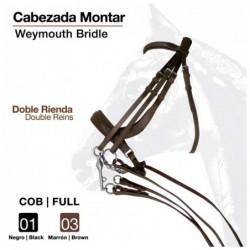 CABEZADA MONTAR DOBLE RIENDA S-2873