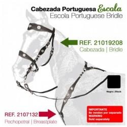 CABEZADA PORTUGUESA ESCOLA NEGRO