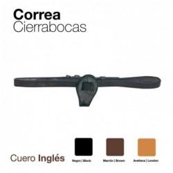 CORREA CIERRABOCAS CUERO INGLES