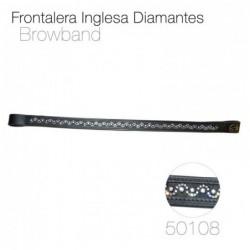 FRONTALERA INGLESA DIAMANTES 50108 NEGRO