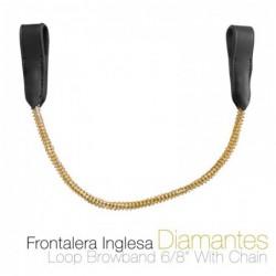 FRONTALERA INGLESA DIAMANTES 12114 NEGRO
