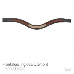 FRONTALERA INGLESA DIAMONT BB07 NEGRO