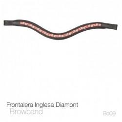 FRONTALERA INGLESA DIAMONT BB09 NEGRO