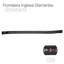 FRONTALERA INGLESA DIAMANTES 005 NEGRO