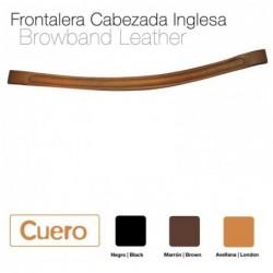 FRONTALERA CABEZADA CUERO INGLESA