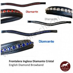 FRONTALERA INGLESA DIAMANTE CRISTAL
