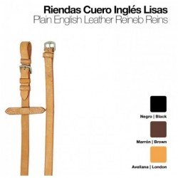 RIENDAS CUERO INGLÉS LISAS 1801/0