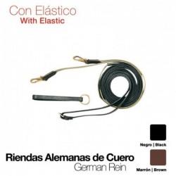 RIENDAS ALEMANAS CUERO CON ELÁSTICO
