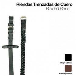 RIENDAS TRENZADAS CUERO 1803
