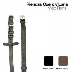 RIENDAS CUERO LONA 1805